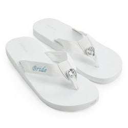 'Bride' White Wedding Flip-flops