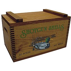 Evans Sports, Inc. Colored Duck Print Wooden Gun Accessory/ Ammo Case