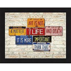 Greg Constantine 'Life & Death' Framed Print