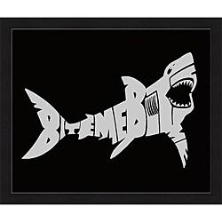 L.A. Pop Art 'Bite Me Shark' Framed Print