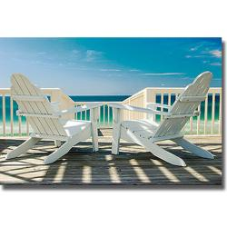 Doug Cavanah 'Deck Chairs' Canvas Art