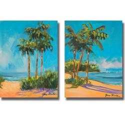 Jane Slivka 'Solitude I and II' 2-piece Canvas Art Set 8936715