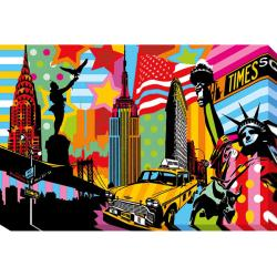 Lobo 'New York Taxi I' Gallery Wrapped Giclee