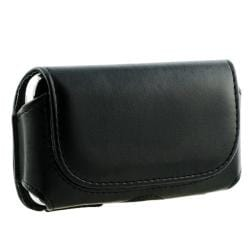 INSTEN Black Leather Phone Case Cover with Magnetic Flap for Apple iPhone 3G/ 4/ 4S