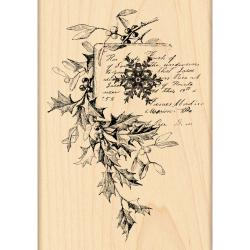 Penny Black 'Snowflake and Holly' Wood-mounted Rubber Stamp
