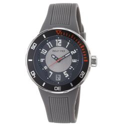 Philip Stein Men's 34-BGR-RGR 'Active Extreme' Black Dial Grey Rubber Strap Watch