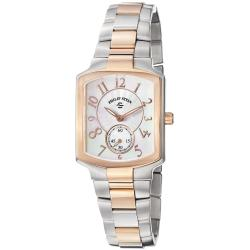 Philip Stein Women's 'Signature' Two Tone Stainless Steel Watch