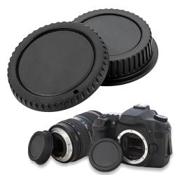 INSTEN Camera Body Cap and Rear Lens Cover Cap for Canon EOS