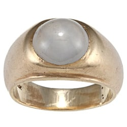 Pre-owned 14k Yellow Gold Star Sapphire Gypsy Estate Ring