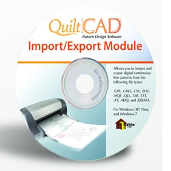 Grace Quilt CAD Import Export Module