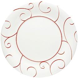 Red Vanilla Panache Rouge Dinner Plates (Set of 6)