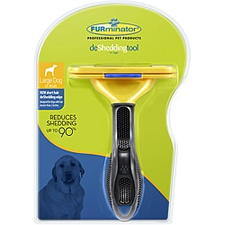 Furminator Rubber deShedding Tool for Short-haired Large Dogs