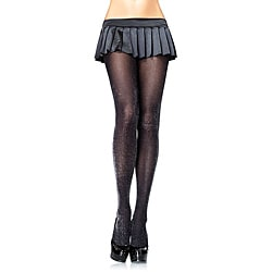 Leg Avenue Women's Black Lurex Tights