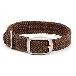 Mendota Brown Double-Braided 12-Inch Nylon Collar