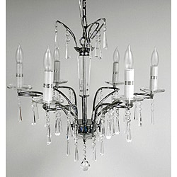 Belle 6-light Chrome Chandelier