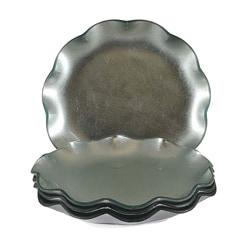 Tango Silver Ruffle Dessert Plate (Set of 4)