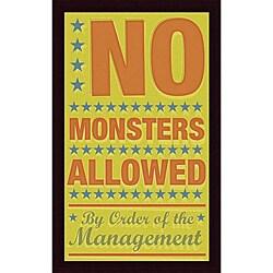 John W. Golden 'No Monsters Allowed' Framed Print