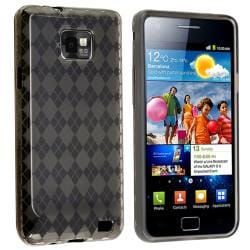 INSTEN Smoke Argyle TPU Skin Phone Case Cover for Samsung Galaxy S GT-i9100/ S II