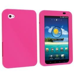 INSTEN Hot Pink Soft Silicone Skin Tablet Case Cover for Samsung Galaxy Tab P1000 7-inch