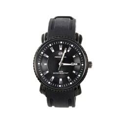 Pierre Jill Men's Simply Manifest Black Silicone Strap Watch