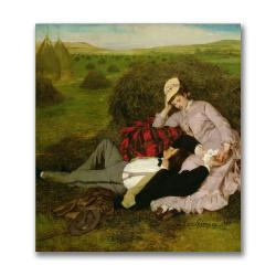 Pal Szinyei Merse' The Lovers,1870' Canvas Art