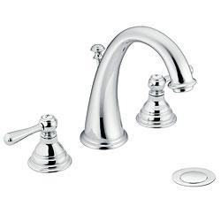 Moen T6125 Kingsley Two-Handle Chrome High Arc Bathroom Faucet