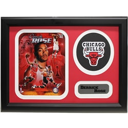 Chicago Bulls Derrick Rose Patch Frame