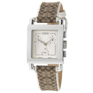 Coach Legacy Harness Women's Silver Dial Chronograph Watch
