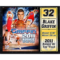 Los Angeles Clippers Blake Griffin 'Rookie of the Year' Stat Plaque 8972214