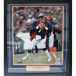 John Elway Autographed Photo Deluxe Frame