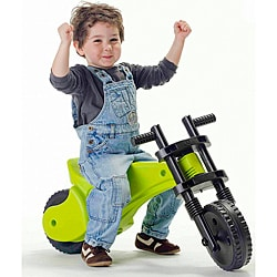 Ybike Green-and-black Injection-molded Plastic Toddler Balance Bike