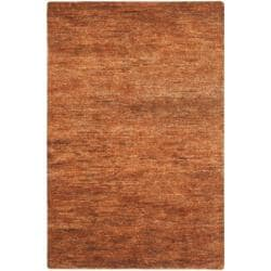 Safavieh Hand-knotted Vegetable Dye Solo Salmon Red Hemp Rug (5' x 8')
