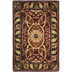 Safavieh Handmade French Aubusson Red/ Burgundy Premium Wool Rug (2' x 3')