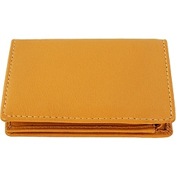 Tan Leather Bi-Fold Wallet