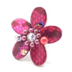 Pink Mother of Pearl Flower Ring (Thailand)