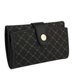 Rioni Signatrue Black Leather Multi-fold Wallet