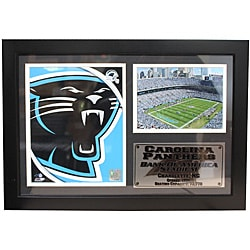 Carolina Panthers Team Logo Photo Stat Frame