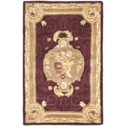 Safavieh Handmade French Aubusson Red Premium Wool Rug (2' x 3')