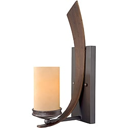 Varaluz Aizen Tall with Tea Stained Creamy Wall Sconce