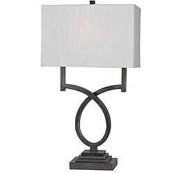 Hansen Weathered Steel Table Lamp