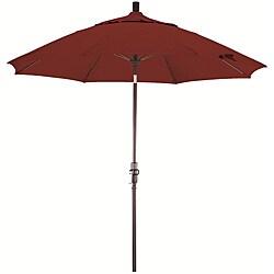 Fiberglass 9-foot Pacifica Brick Red Crank and Tilt Umbrella