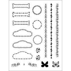 Stamping Scrapping Spellbinders Assorted Matching Clear Stamps