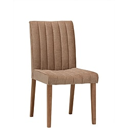 Valarie Cocoa Finish Dining Chairs (Set of 2)