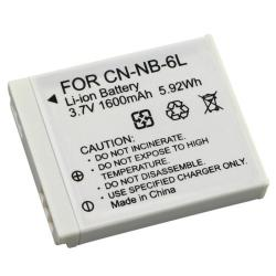 INSTEN White Rechargeable Li-ion Battery for Canon NB-6L