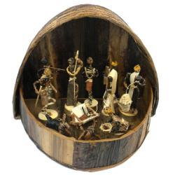 Banana Fiber Handmade Arched Nativity Set (Kenya)