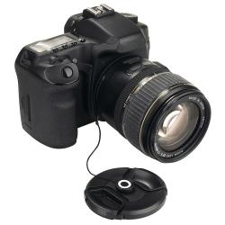 INSTEN Black Camera Lens Cap Keeper Holder