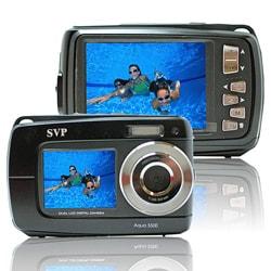 Aqua 5500 Black 18MP Black Waterproof Digital Camera with 32GB SD Card