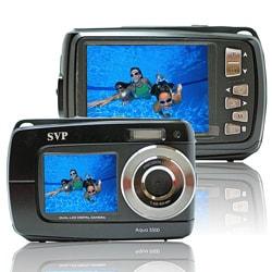 Aqua 5500 Black (with Micro 16GB) 18MP Dual Screen Waterproof Digital Camera