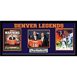 Denver Broncos Peyton Manning and John Elway Cutout Frame 9016190
