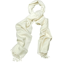 Peach Couture Silk Blend Off-white Wrap